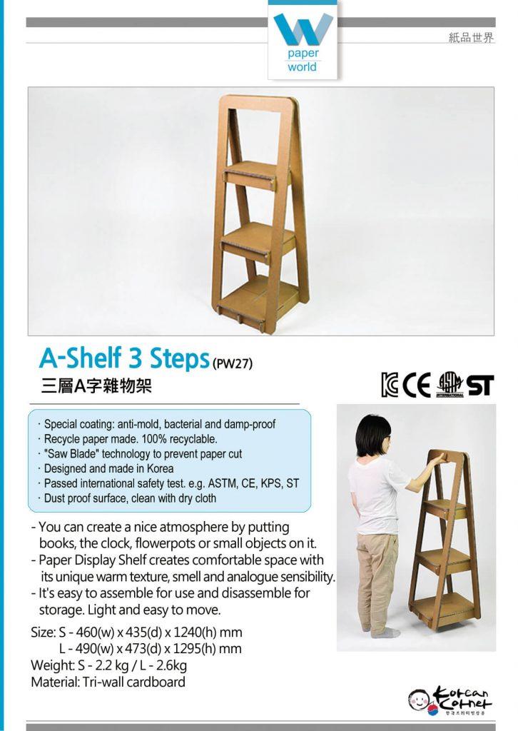 A-Shelf 3 Steps